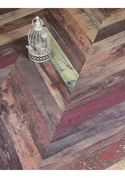 Faus Chevron Multicolour Laminate Floor