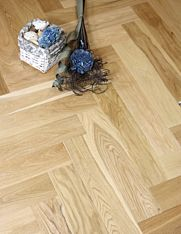 Herringbone Oak engineered wood flooring