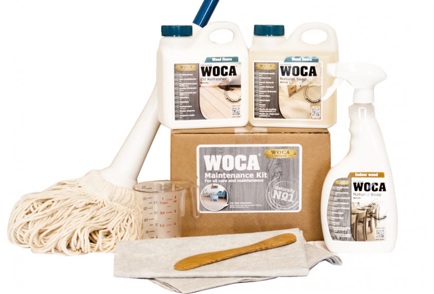 Wood Flooring maintenance kit by Woca